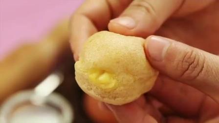 能成为众人眼里的新款美食香饽饽咸蛋奶油泡芙, 流心馅料的诱惑