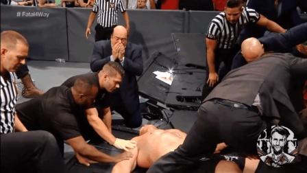 WWE摔角比赛—【布洛克VS黑山羊】 打到内伤、非常精彩