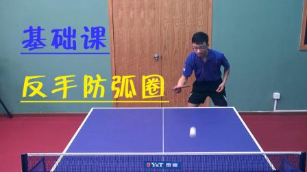 【乒乓基础课】 第二十一集 反手防挡弧圈的技术要领