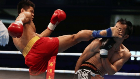 中国搏击选手一脚下去, 日本选手趴在地上起不来