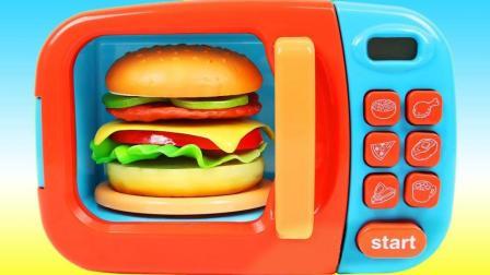 美味汉堡做起来一点也不难! 魔法微波炉新玩法视频教程送给你