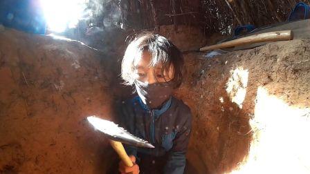 野外生活记录短片: 挖地洞, 打造冬暖夏凉的小草屋!
