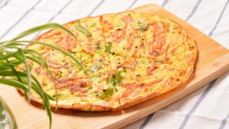 平底锅也可以做披萨? 教你如何做出火腿披萨蛋饼的第二春
