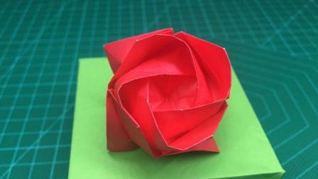 浪漫玫瑰花的折法教程, 好看的川崎玫瑰, 跟着学人人都能学会