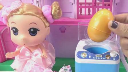 打扫卫生洗衣做饭拆奇趣蛋, 婴幼儿宝宝玩具游戏视频