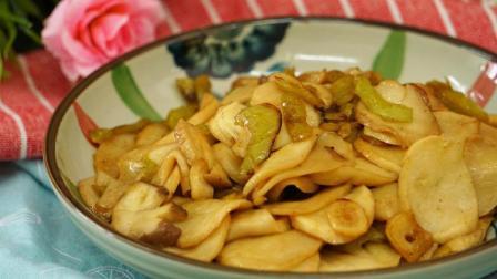 大厨教你做青椒素炒杏鲍菇, 简单易学, 美味可口