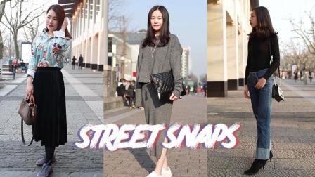 实拍杭州街拍美女, 南方妹子已经开始露腿了么?