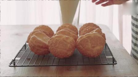 奶油泡芙制作这么简单, 菜鸟也能学会!