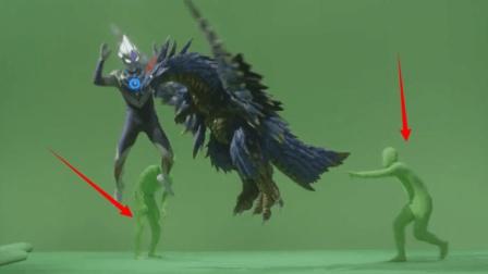 欧布奥特曼拍摄花絮: 打个怪兽还要2个小绿人来帮忙, 肚子都笑疼了