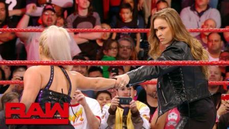 【RAW 03/19】戴娜表示隆达-罗西是个没有实力的空降兵 立马被削