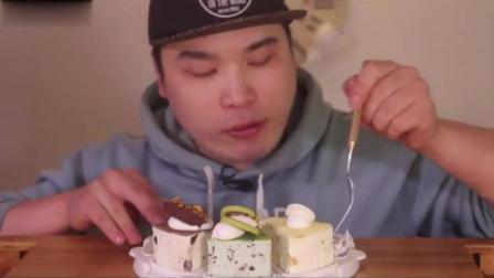 韩国吃货胖哥, 吃蛋糕的咀嚼声, 真的美味吗