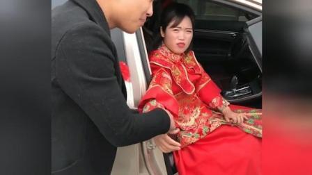 新娘到结婚现场不敢下车, 结果是粑粑拉裤子里了, 笑死人了