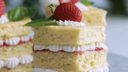 简单美味的草莓小蛋糕, 下午茶的小甜点