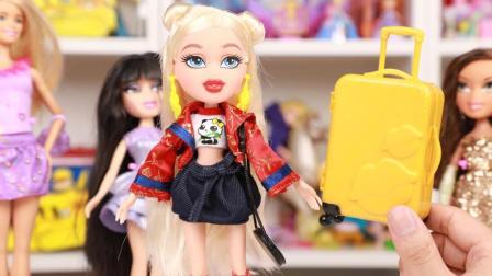 贝兹娃娃环球之旅中国站 中国元素时尚芭比娃娃玩具开箱