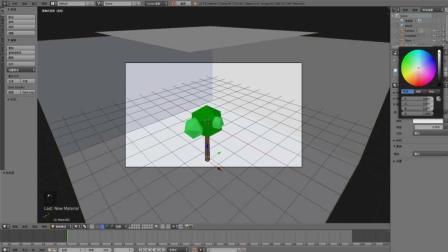 Blender建模之lowpoly树