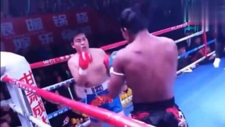 号称9战8胜1次打死对手的特种兵挑战泰拳王播求, 被轻松KO!