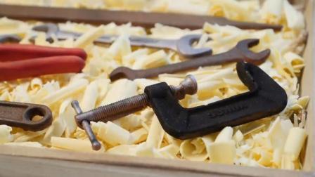 老外做工具造型蛋糕送给父亲, 这样的工具我也来一套