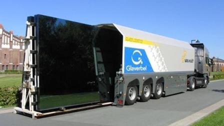 德国拉玻璃的货车一般人都没见过, 太先进, 这司机工资得几万?