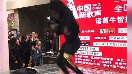 非洲网红哥决定来参加中国的歌唱选秀节目, 幻想有一天能成为第二个迈克