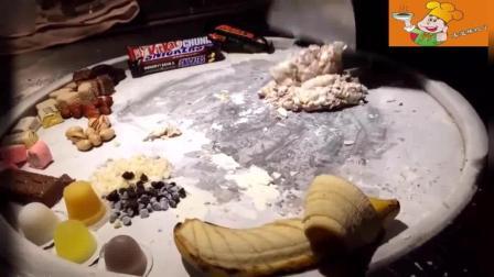 果冻香蕉冰淇淋混合在一起! 看着就有食欲
