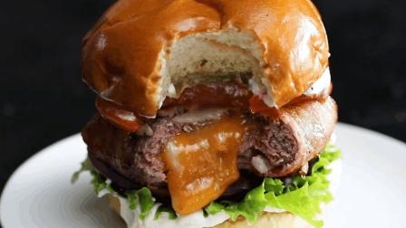 好吃的培根牛肉汉堡, 值得一做的美食!