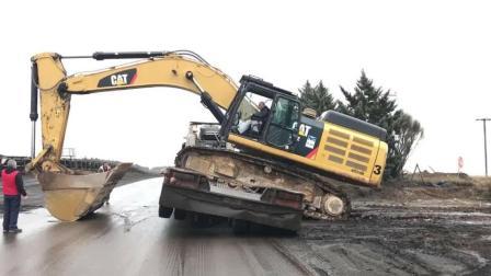 几十吨的大挖机是如何运输的, 看完你就明白了