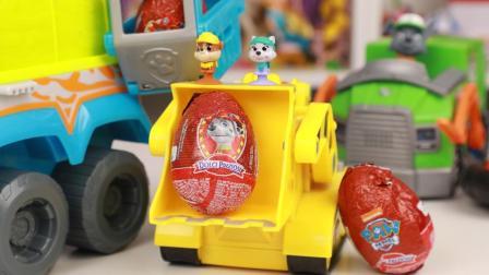 汪汪队立大功新款巧克力奇趣蛋拆出吸盘狗狗玩具