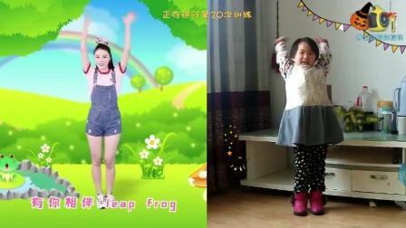 幼儿园最火舞蹈《小跳蛙》这个小朋友跳的怎么样呢?