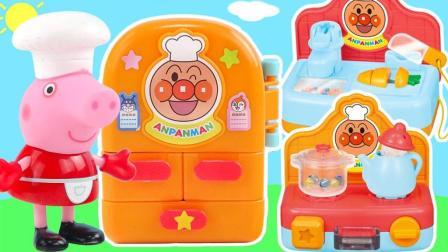 玩具益趣园 2017 小猪佩奇的面包超人迷你厨房玩具过家家