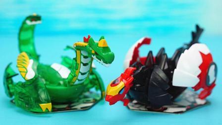 玩具大联萌 爆兽猎人玩具拆装 召唤雌雄玄武和重装剑龙