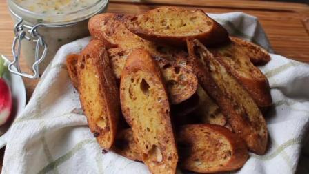芥末味的烤面包, 香脆可口咸甜适中