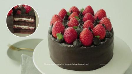 美食搬运: Cooking tree系列, 巧克力椰丝方块蛋糕
