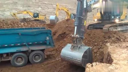 这种土方活, 同样大小的挖掘机, 沃尔沃真干不过小松