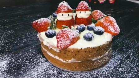 家常菜, 家常草莓雪人蛋糕的做法, 简单易做, 你学会了吗
