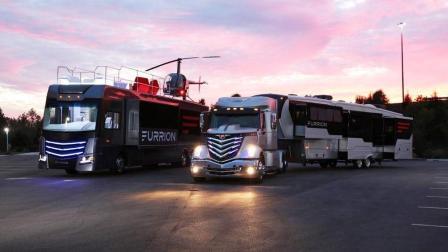 "Furrion豪华房车""陆地游艇""概念车发布: 全方位第五轮拖挂房车"