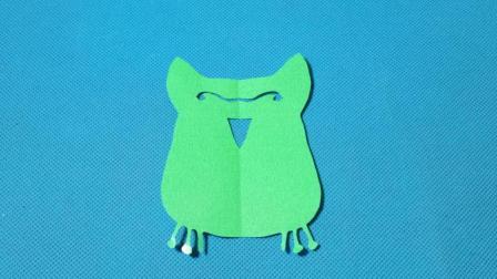 剪纸小课堂: 猫头鹰, 儿童喜欢的手工DIY, 动手又动脑