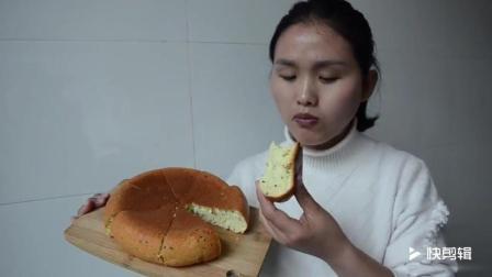 教你用电饭锅做蛋糕, 3分钟学会, 生日蛋糕再也不用去买了!