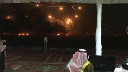 中东土豪的狂欢, 这炮仗和烟花放的, 不知道还以为是火箭炮呢