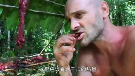 荒野求生: 德哥四周围挂满了几十斤的肉, 这不是我熟悉的德哥