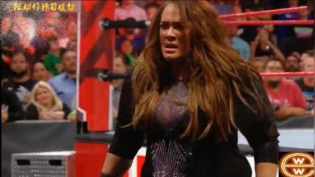 WWE不败女皇修理女子冠军, 逃跑之时遭好姐妹奈娅围堵打至后台!