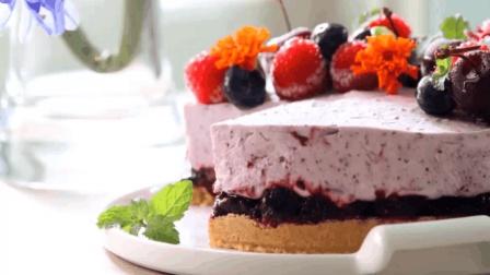 没有烤箱也能做的树莓慕斯蛋糕, 美美的, 甜而不腻