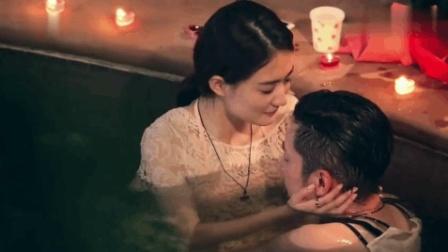 徐璐水中第一次亲吻乔任梁, 一脸宠溺的kimi意味在徐路怀里。