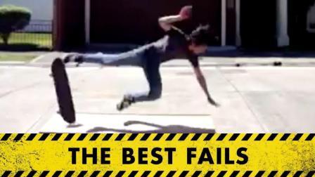 从高速飞驰的滑板上摔下 外国人作死爆笑行为 爆笑歪果仁
