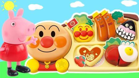 玩具益趣园 2017 小猪佩奇的趣味面包超人煎锅做美味午餐