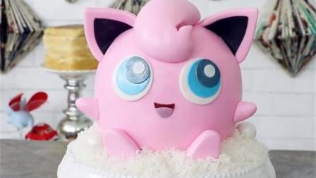 超可爱神奇宝贝胖丁翻糖蛋糕, 纯手工制作简单易学