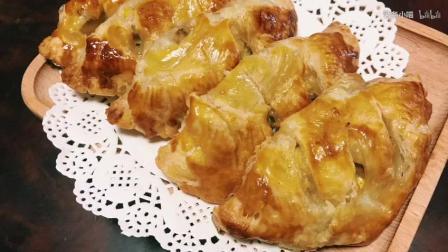 【简单做美食】万能的蛋挞皮做出超级好吃的香蕉派