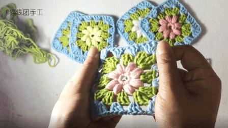 编织的线头不要丢, 拼一个经典祖母花片毯子, 高颜值又实用