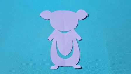 剪纸小课堂: 树袋熊, 儿童喜欢的手工DIY, 动手又动脑