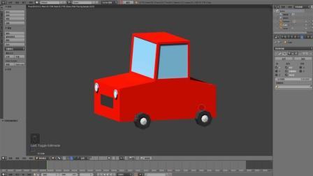 Blender建模之lowpoly车