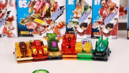 爆裂飞车3合体系列六辆爆裂飞车合体夺晶 涛天海爆裂飞车开箱